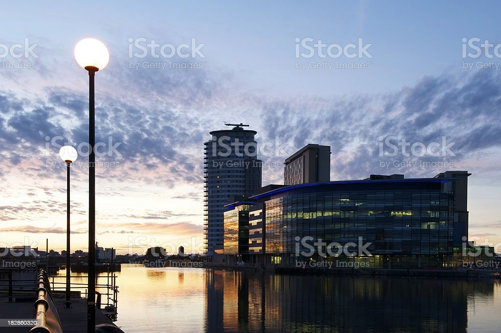 Media City at Dusk stock photo