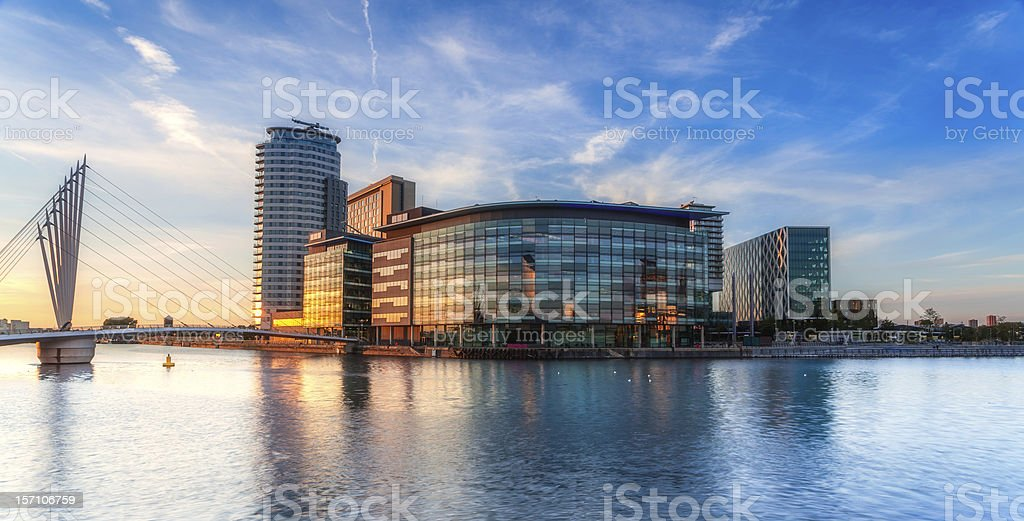 Media City on Salford Quays stock photo