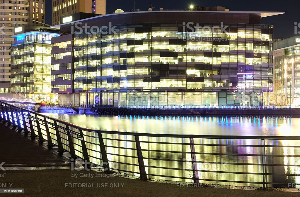 BBC Media City, Salford Quays, Manchester stock photo