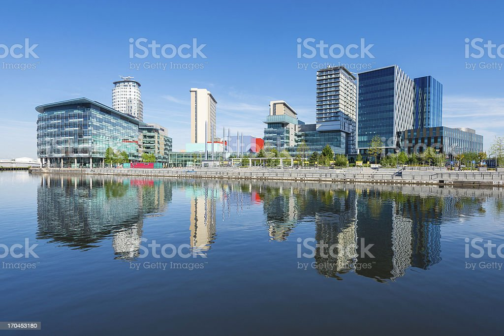 Media City UK, Salford Quays, Manchester stock photo