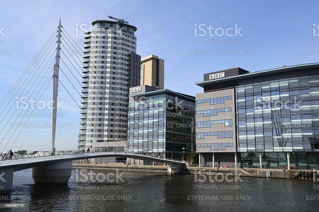 Media City UK, Salford Quays royalty-free stock photo