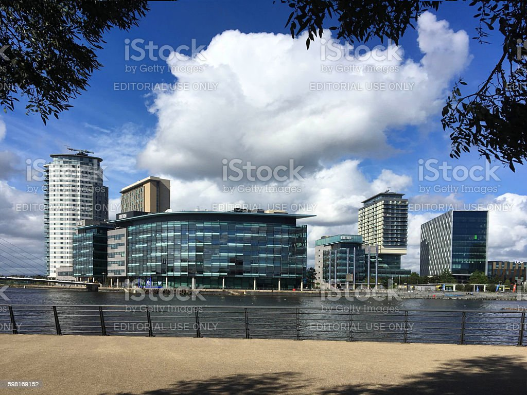 Media City,Salford Greater Manchester. stock photo
