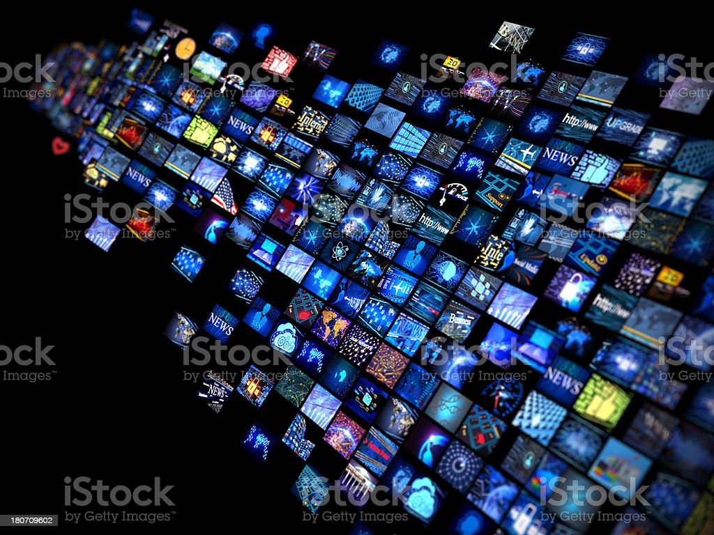 Media concept royalty-free stock photo