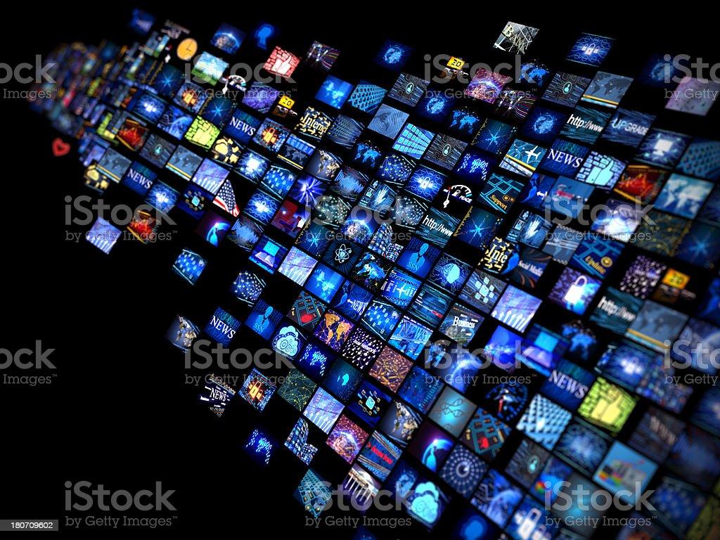 Media concept stock photo