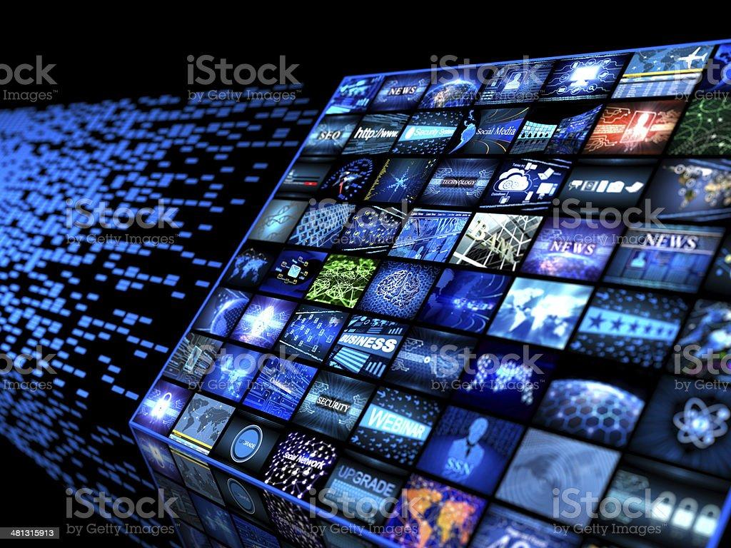 Media concept royalty-free stock photo