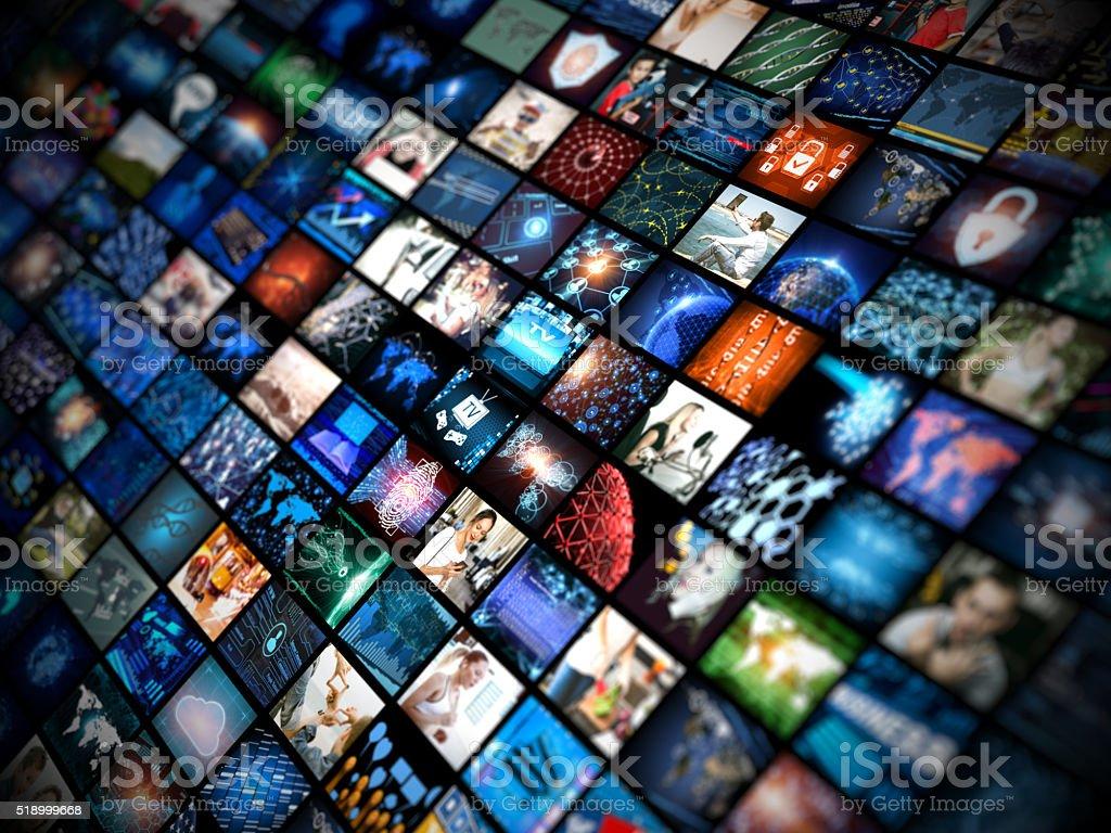 Media concept smart TV stock photo