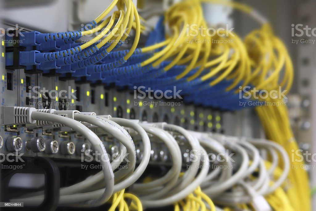 Media Converters (fiber to the ethernet) royalty-free stock photo