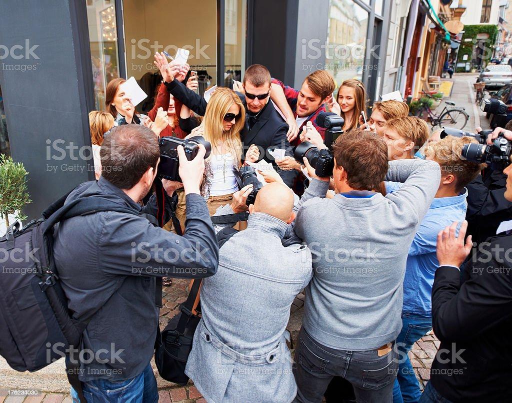 Media darling at work royalty-free stock photo