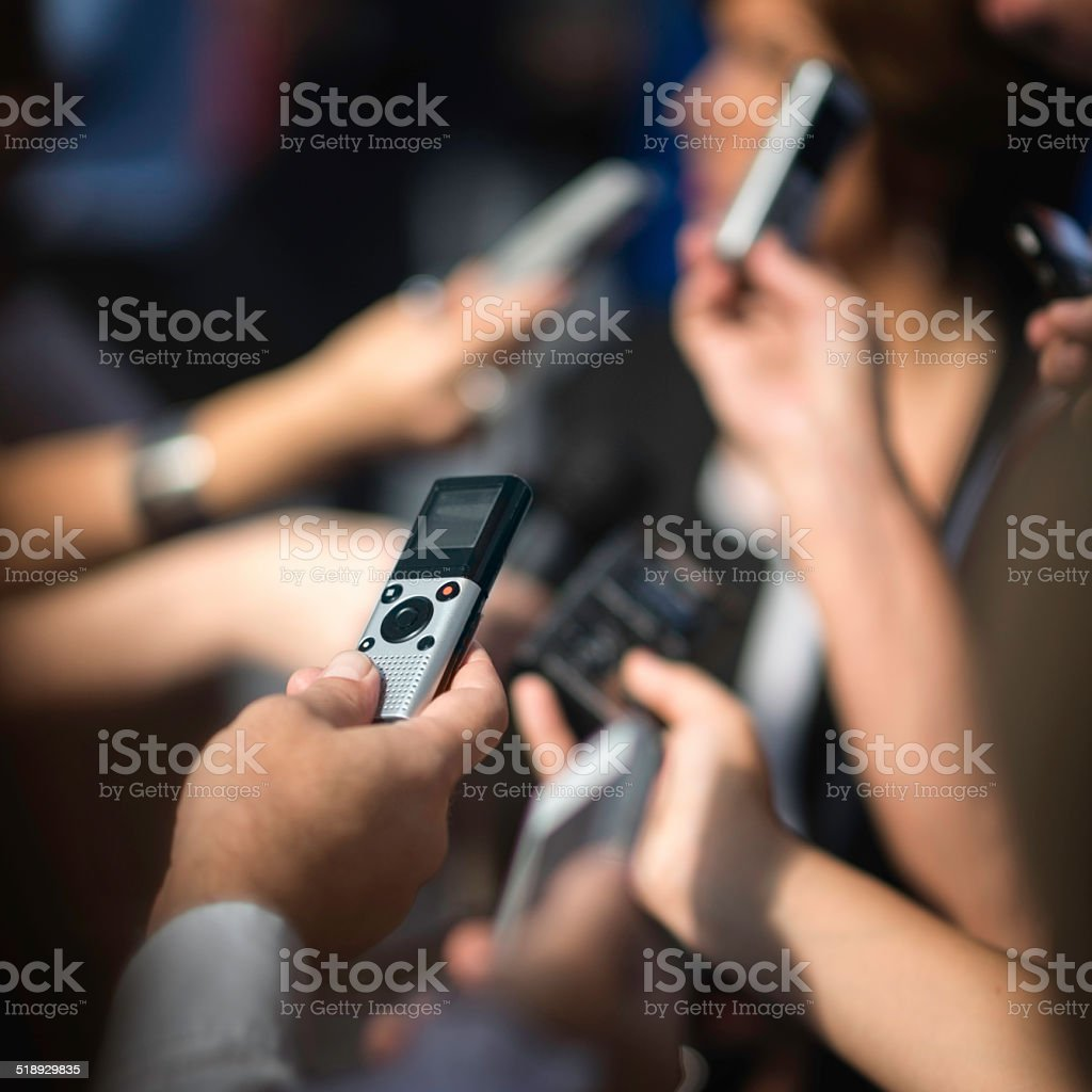 Media Frenzy stock photo