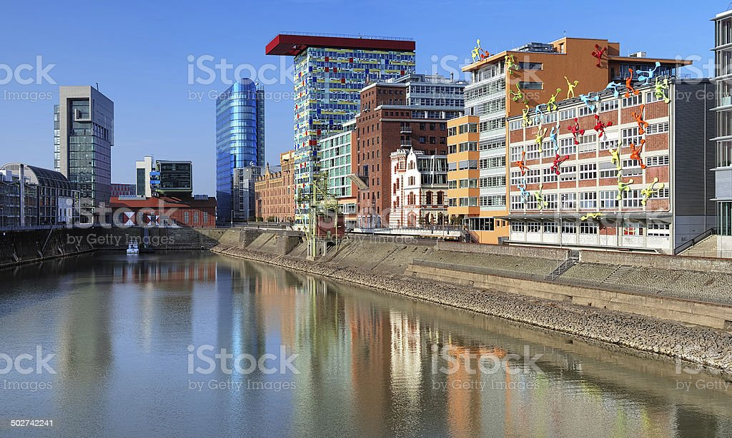 Media Harbour of Dusseldorf with buildings in modern style stock photo