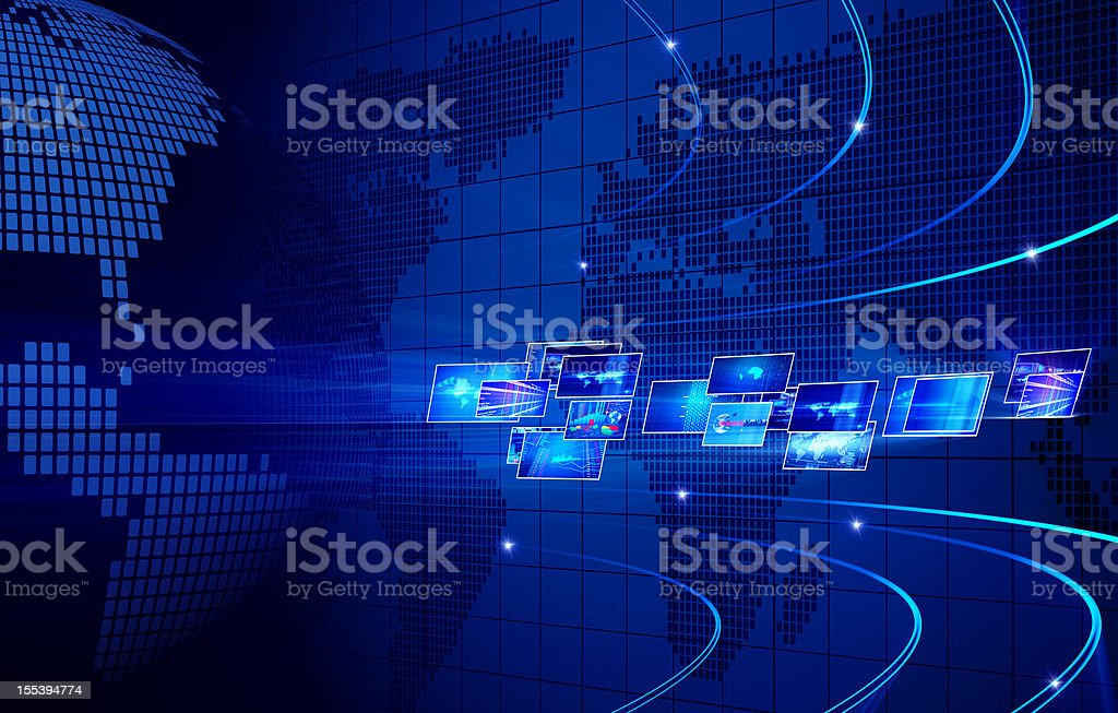 Media news concept stock photo