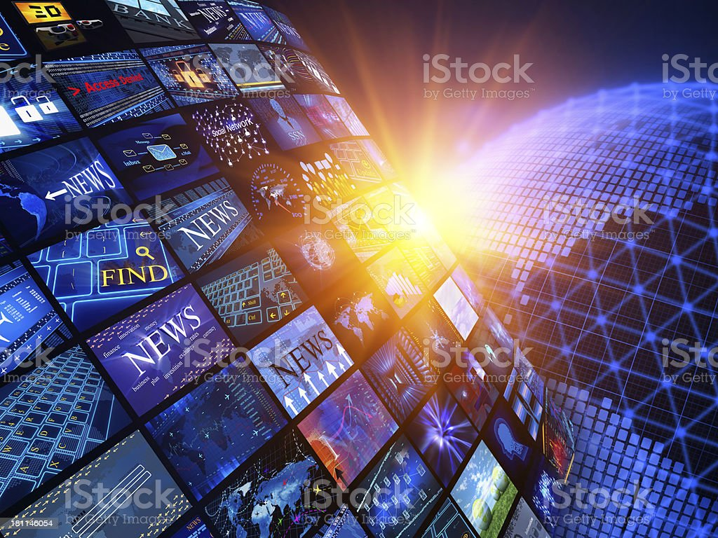 Media News concept royalty-free stock photo