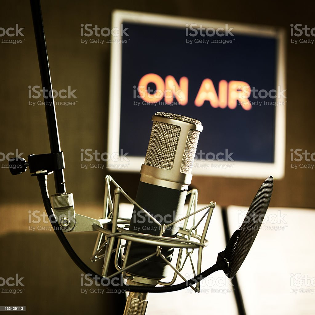media: on air stock photo
