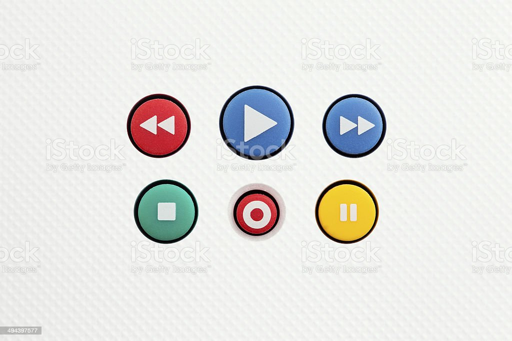 Media player buttons royalty-free stock photo
