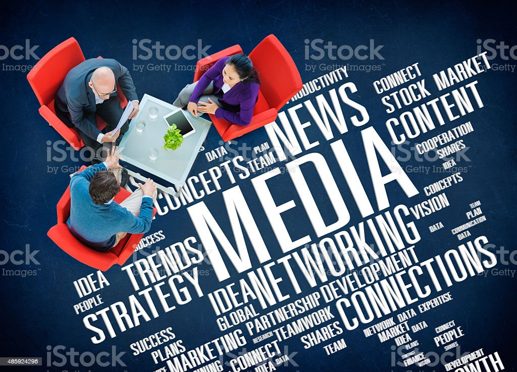Media Social Media Network Technology Online Concept stock photo