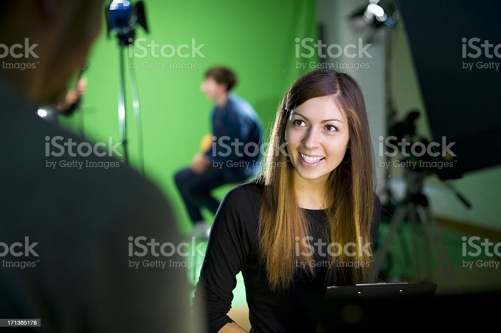 media student in the studio royalty-free stock photo