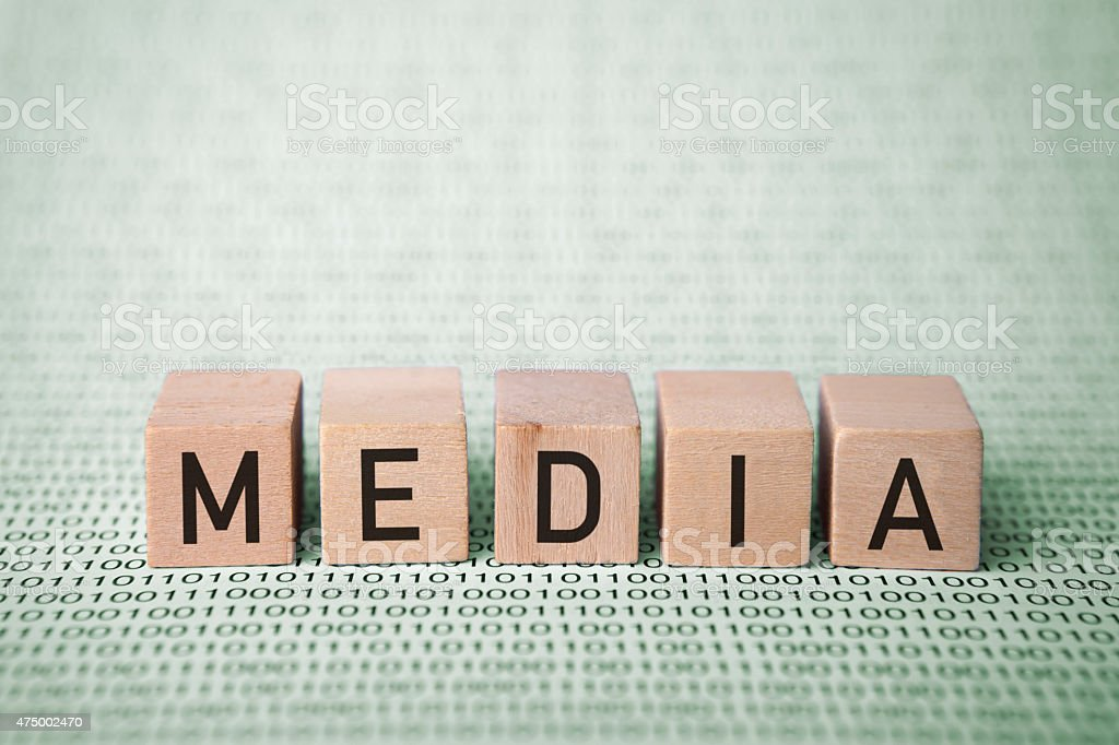 media text stock photo