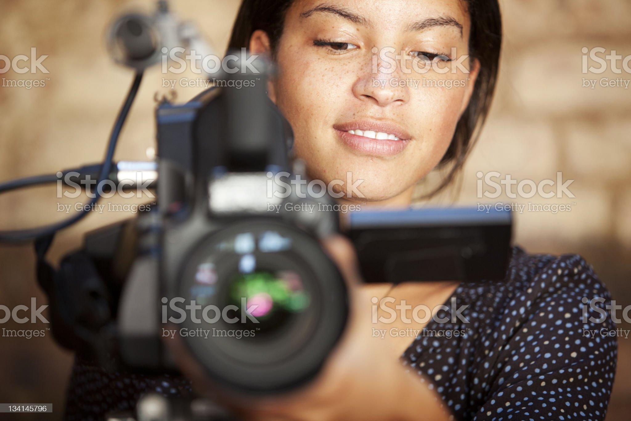 media: TV camera operator royalty-free stock photo
