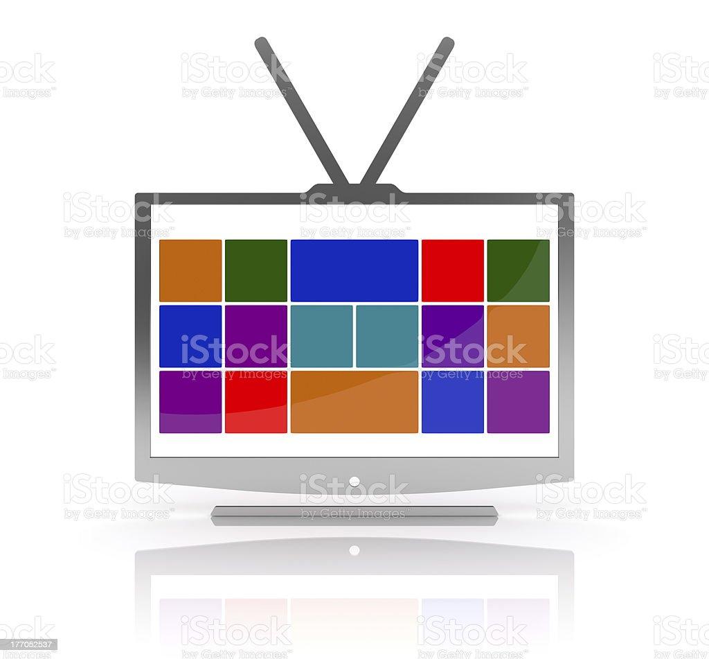 Media TV royalty-free stock photo