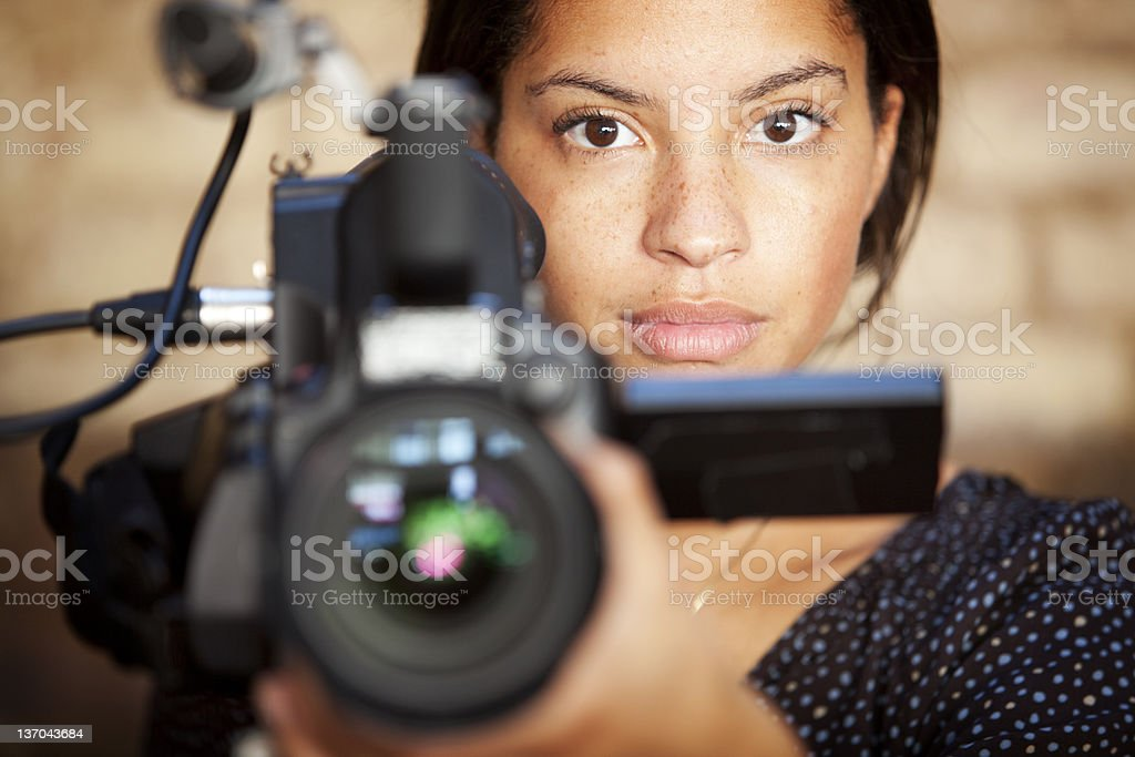 media: TV professional stock photo