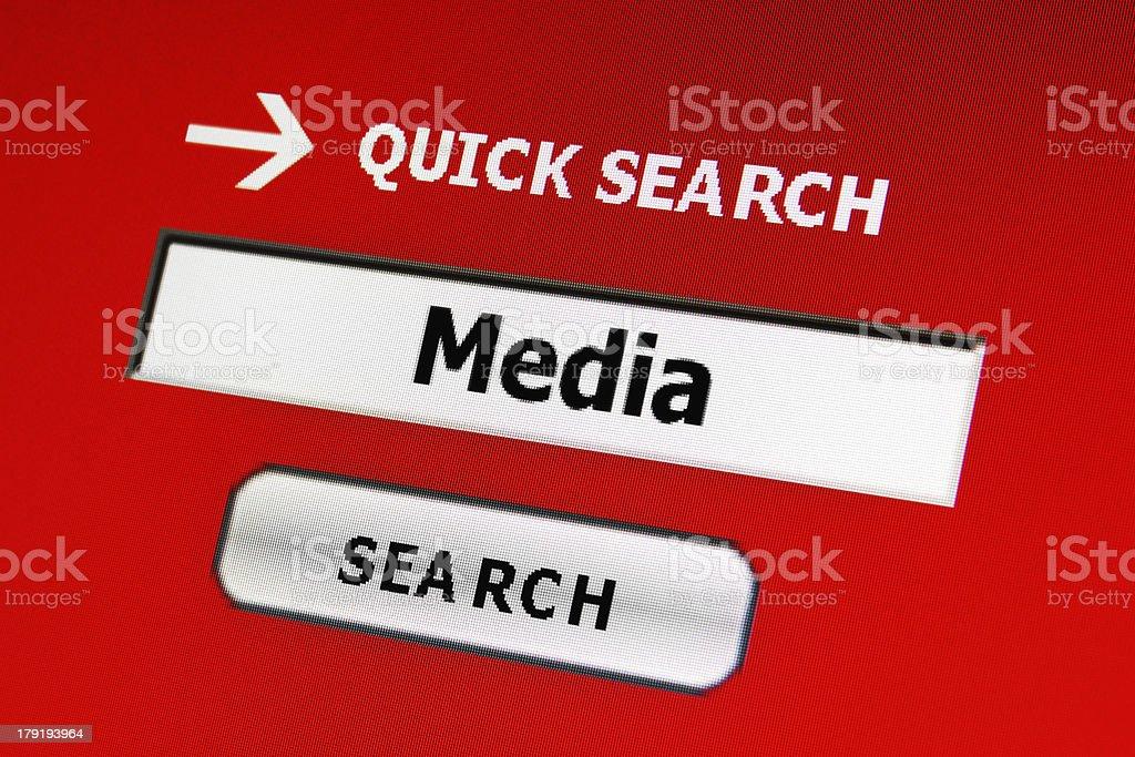 Media web search royalty-free stock photo