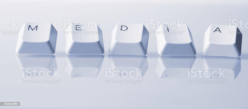 Media Word royalty-free stock photo