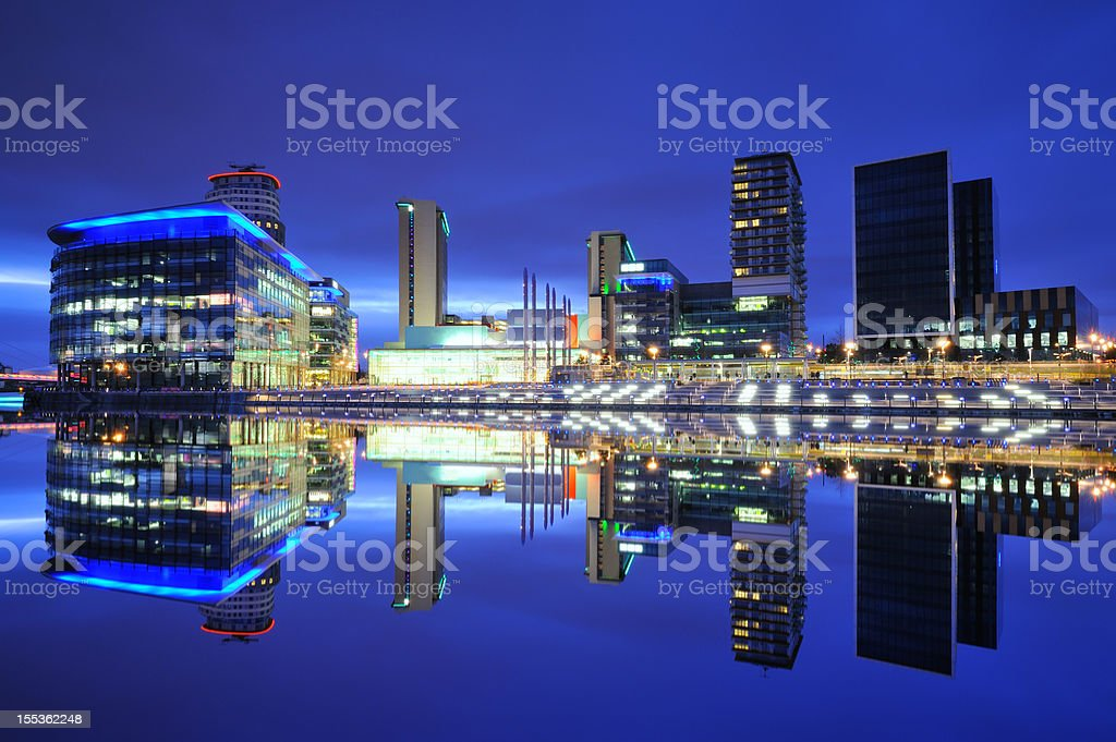 MediaCity UK, Salford Quays, Manchester stock photo