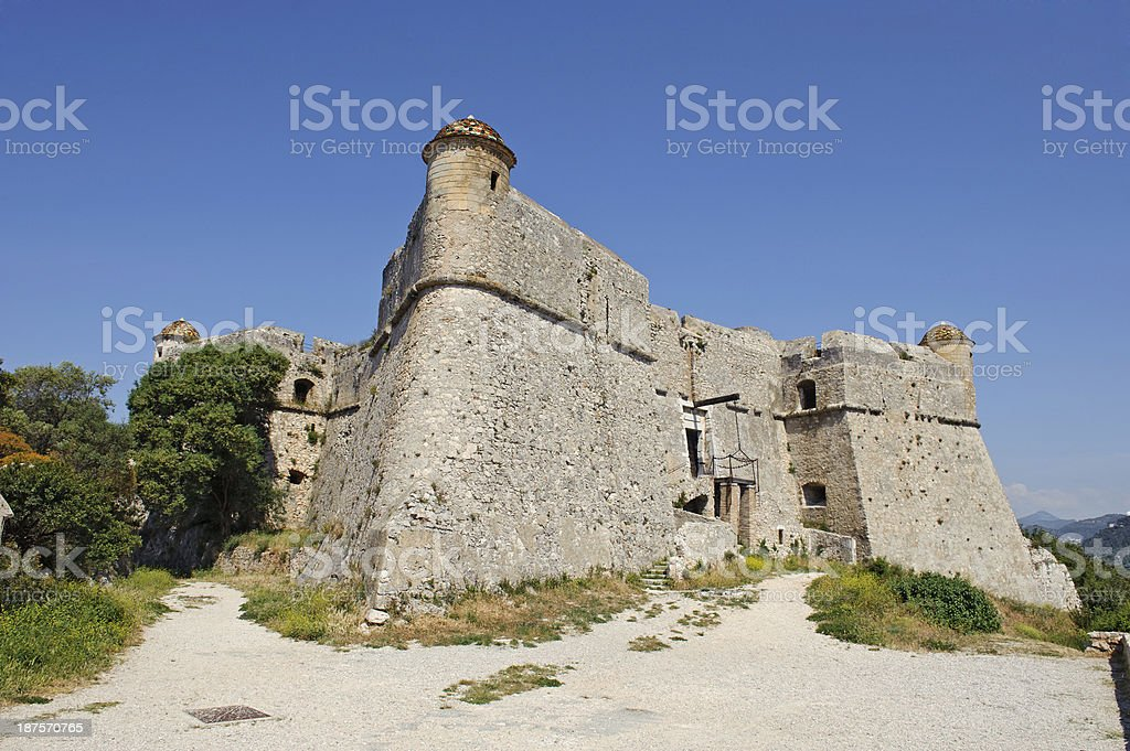 Mediaeval Fort d'Alban at Villefranche Cote d'Azur royalty-free stock photo