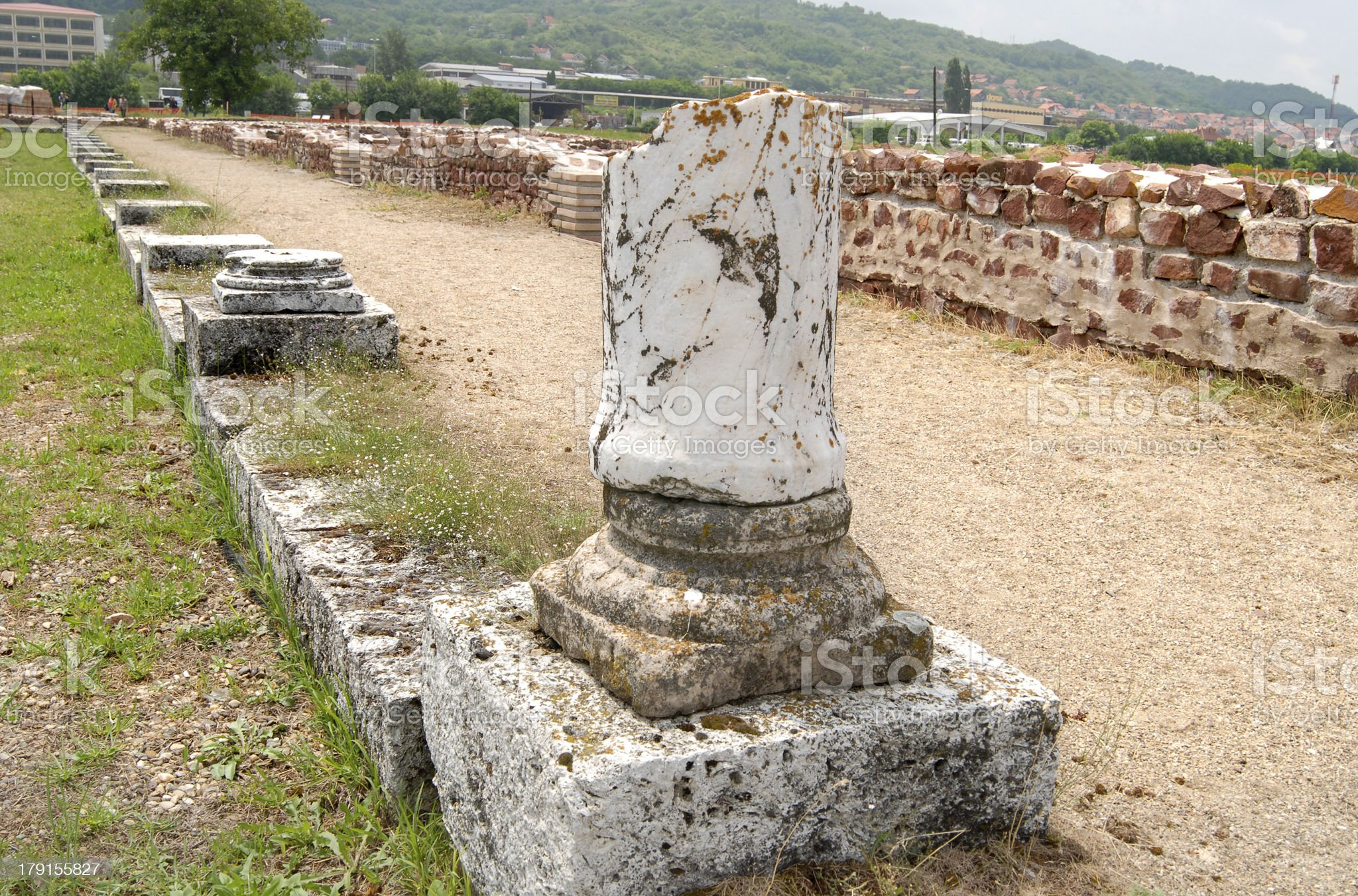 Mediana - archaeological site, Serbia royalty-free stock photo