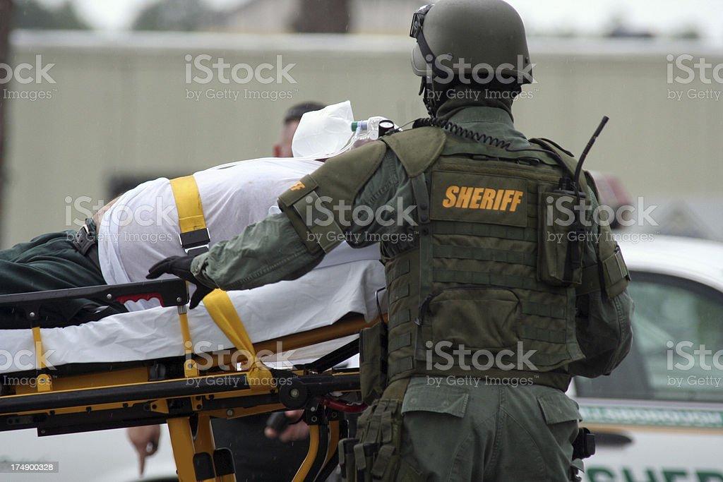 SWAT Medic royalty-free stock photo
