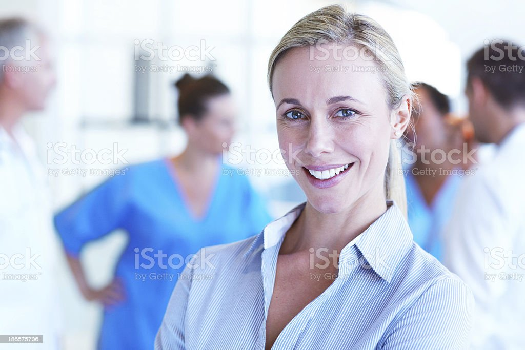 Medical administration professional royalty-free stock photo