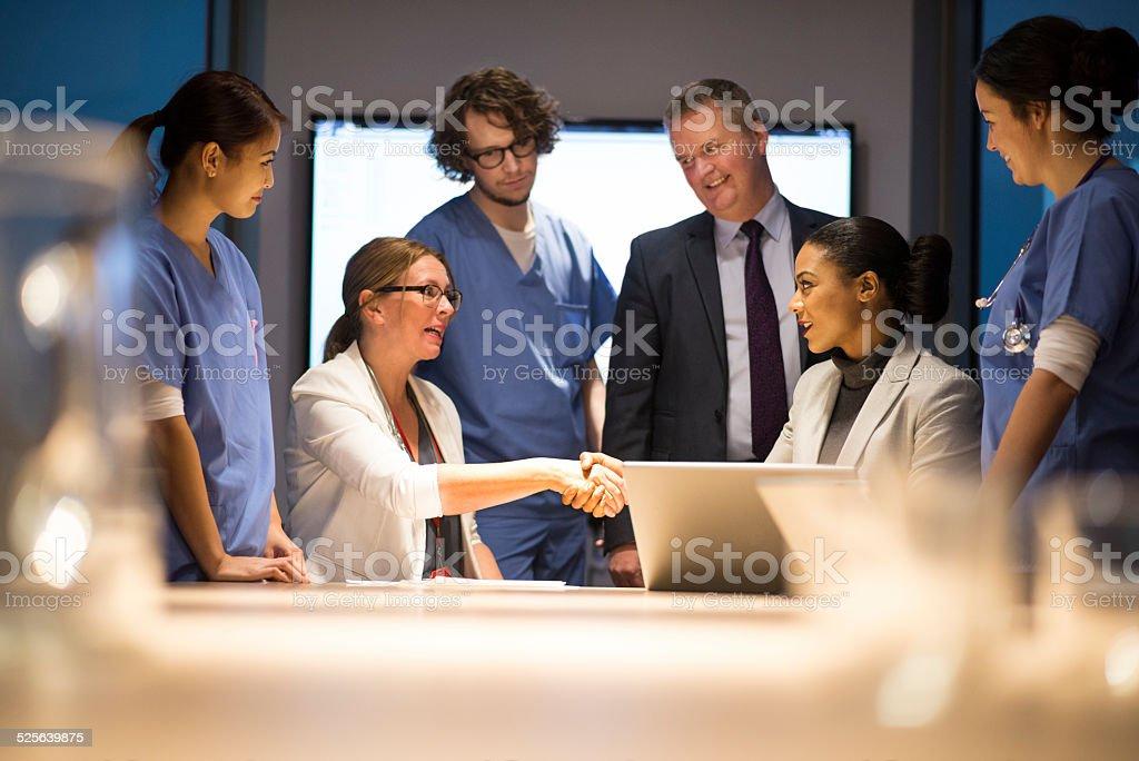 medical agreement stock photo