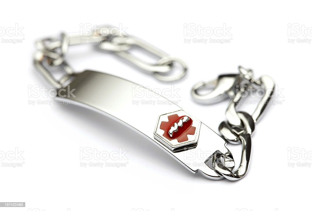 Medical Alert Bracelet stock photo