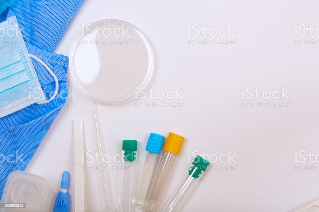 Medical analysis items - background. stock photo