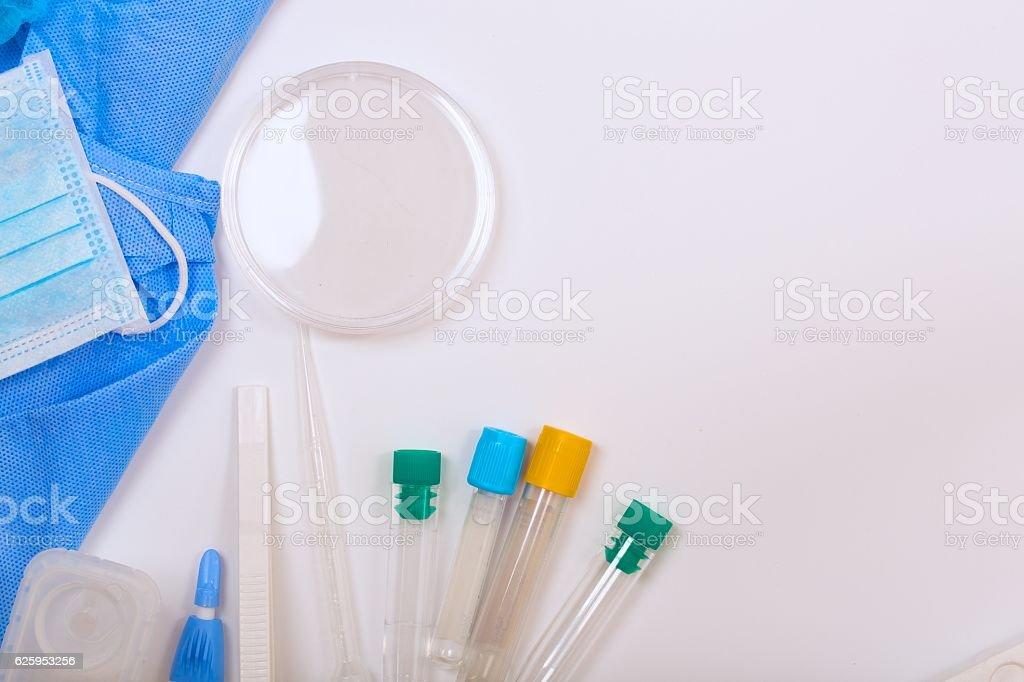Medical analysis items - background. stock photo