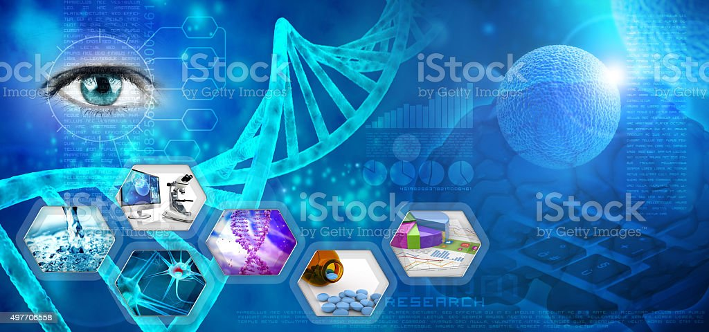 medical and pharmaceutical research stock photo