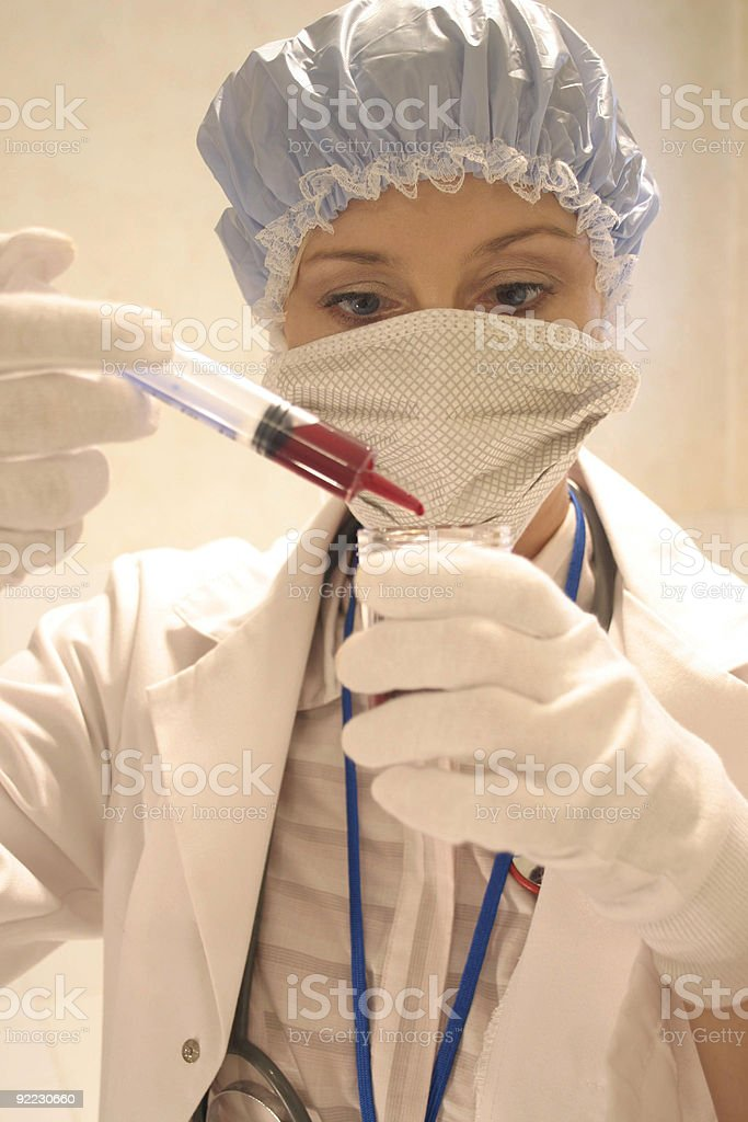 Medical and research person  royalty-free stock photo