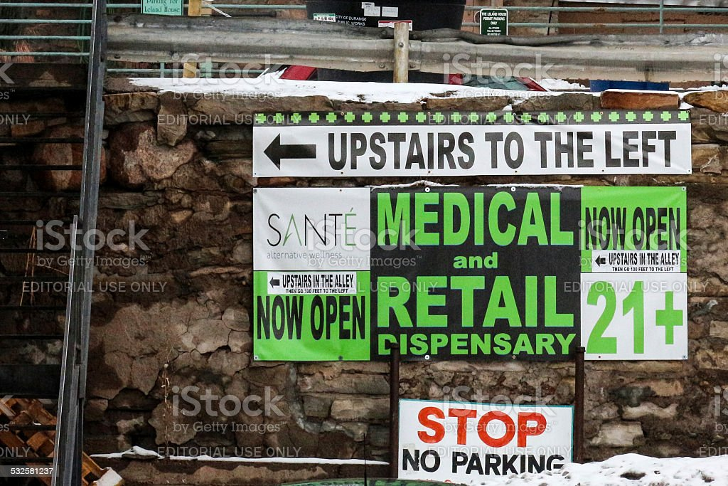 Medical and Retail Marijuana Shop in Colorado stock photo