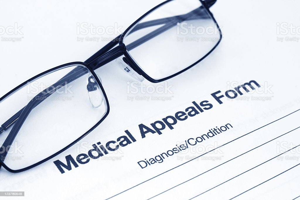 Medical appeals form royalty-free stock photo