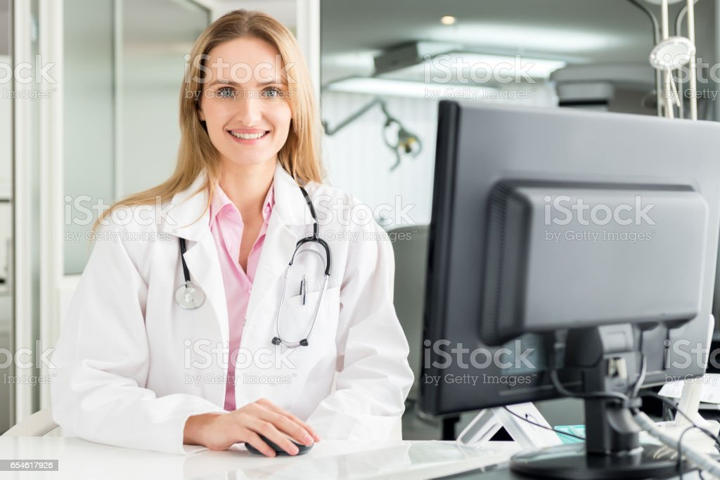 Medical assistance stock photo