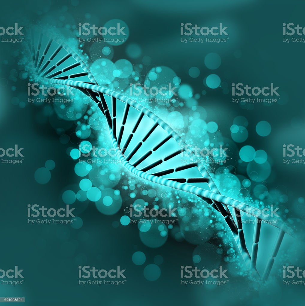 3D DNA medical background stock photo