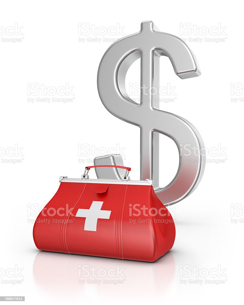 Medical Bag and Dollar stock photo