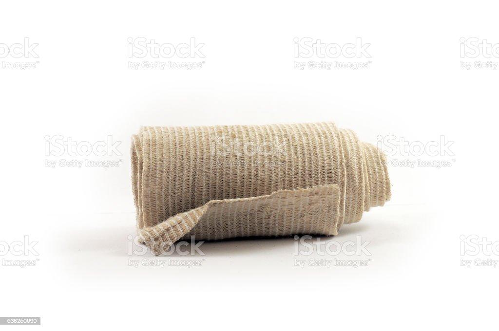 Medical bandage isolated on white background stock photo