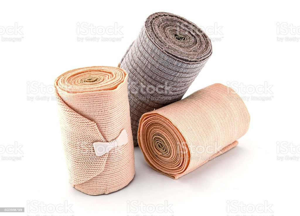 Medical bandage on a white background stock photo
