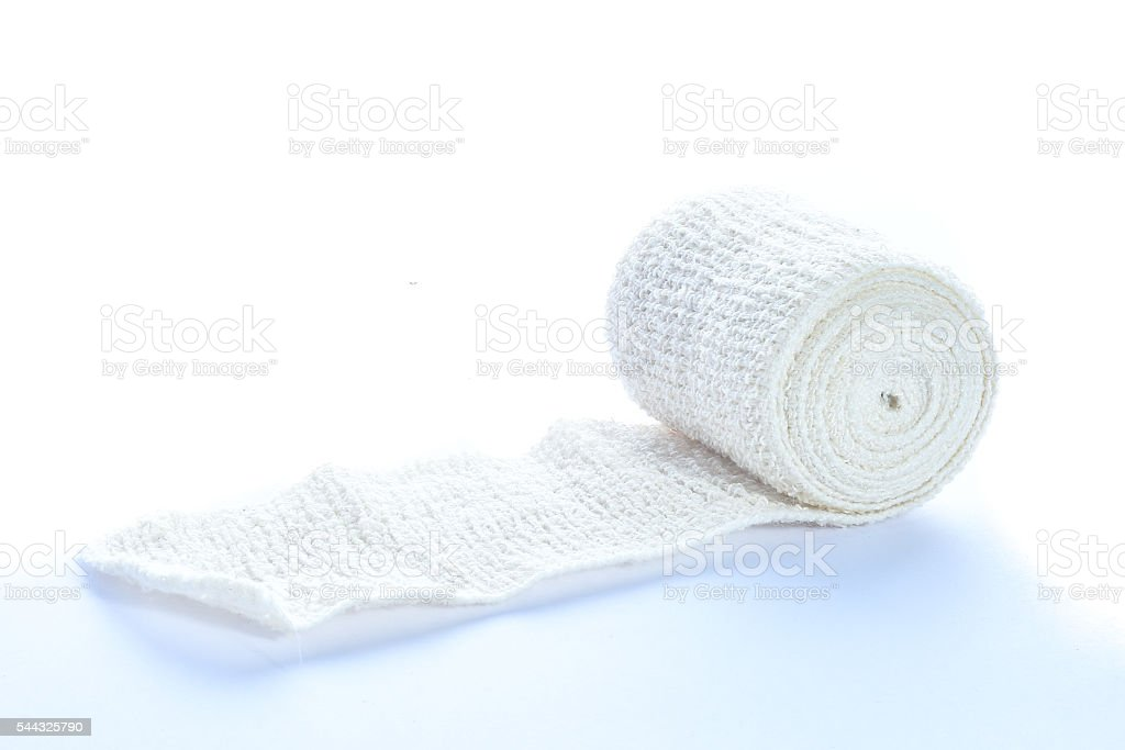 Medical bandage roll isolated stock photo