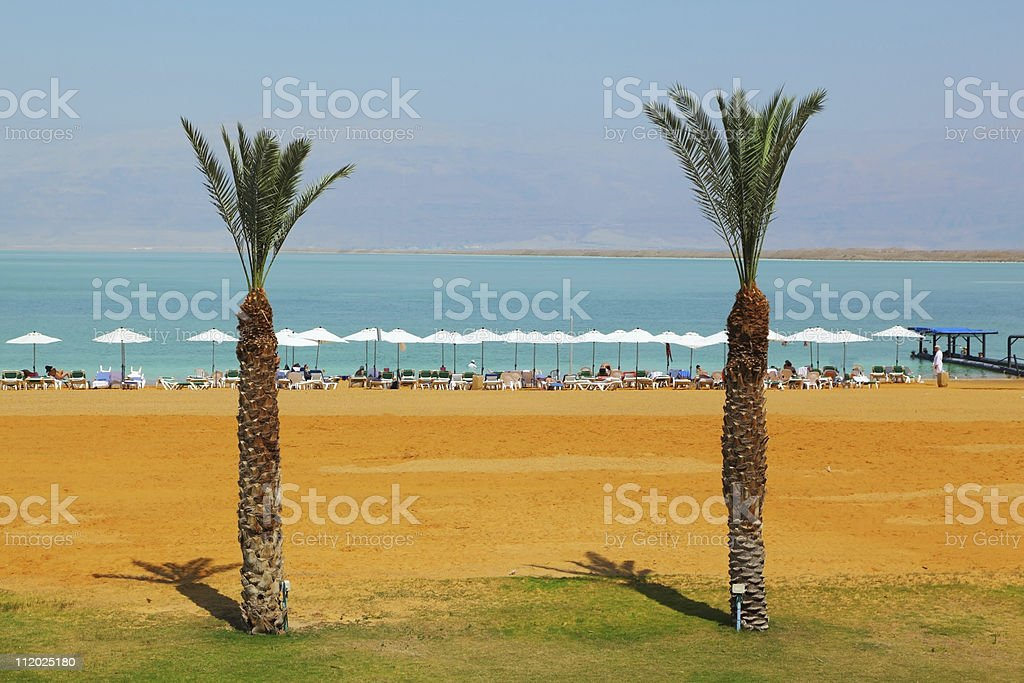 Medical beach luxury hotel at the Dead Sea royalty-free stock photo