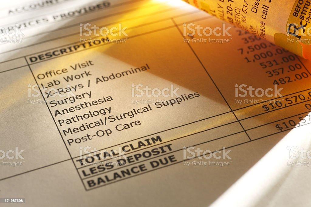 Medical Bill royalty-free stock photo