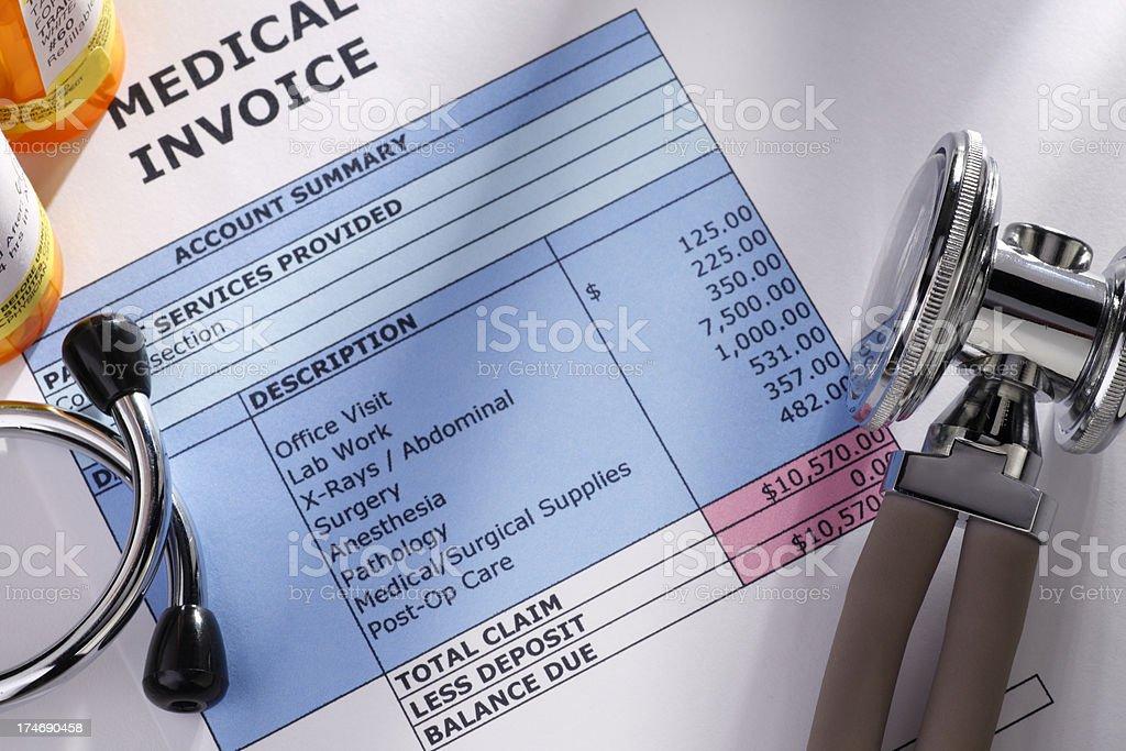 Medical Bill stock photo