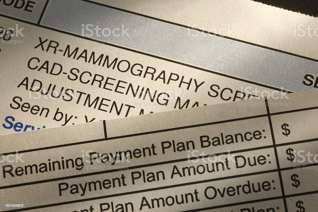 Medical Bill royalty-free stock photo