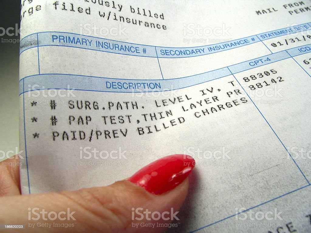 Medical Bill stock photo